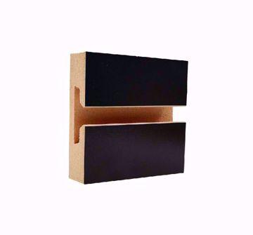 Slatwall Panel Black Laminate