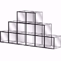 Glass Display Cube Unit Kit - Model 1