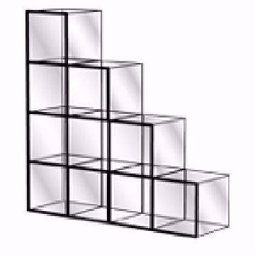 Glass Display Cube Unit Kit - Model 2