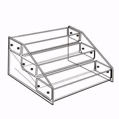 Acrylic 3-Tier Tray Display