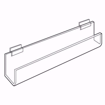 Slatwall Acrylic J-Rack Flat Back Ends Open