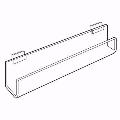 Slatwall Acrylic J-Rack Flat Back Ends Open