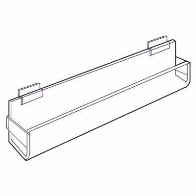 Picture of Slatwall Acrylic J-Rack Flat Back Ends Closed