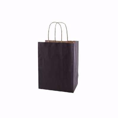 Plain Black Paper Shopping Bags (small)