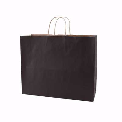 Plain Black Paper Shopping Bags (medium)