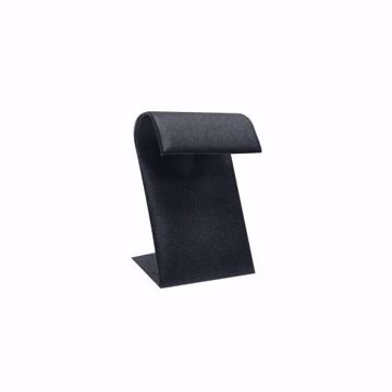 Black Faux Leather Single Earring Display