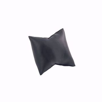 Black Faux Leather Watch Pillow