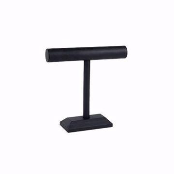 1-Tier Black Faux Leather T-Bar