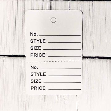 Small Perforated Tags - No String