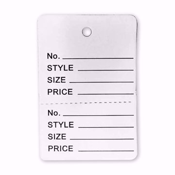 Large Perforated Tags - No String