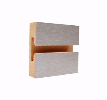Slatwall Panel Brushed Aluminum