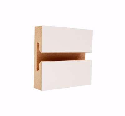 Slatwall Panel White Laminate