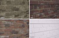 SlatTex Brick Textured Slatwall Panel SLATTEX
