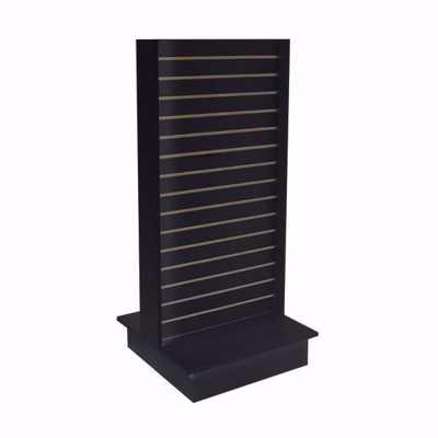 2-Way Slatwall Merchandiser Black