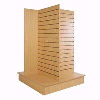 4-Way-Slatwall-Pinwheel-Merchandiser Maple