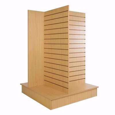 4-Way-Slatwall-Pinwheel-Merchandiser Maple