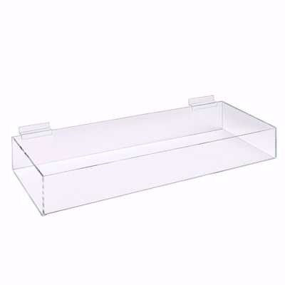 Slatwall Acrylic 1 Compartment Bin