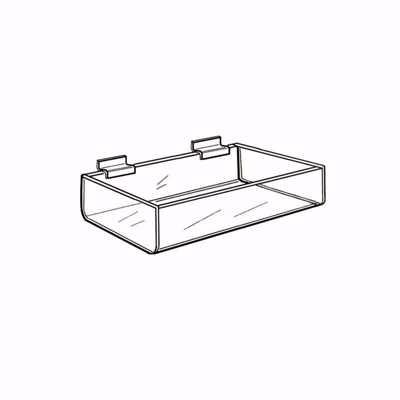 Slatwall Acrylic Single Tray