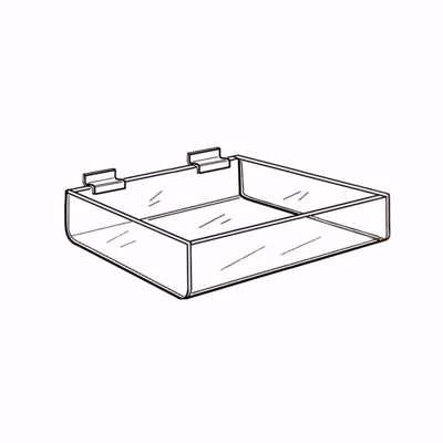 Slatwall Acrylic Deep Tray 12 inch