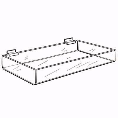 Slatwall Acrylic Deep Tray 24 Inch