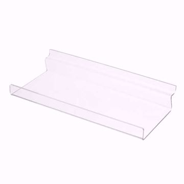 Slatwall Acrylic Shelf with Lip 12x6