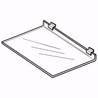 Slatwall Deluxe Acrylic Flat Shelf 24x12
