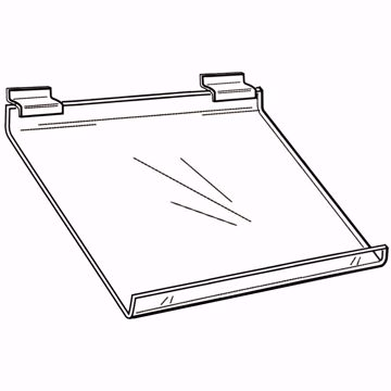 Slatwall Slanted Acrylic Shelf 24z12