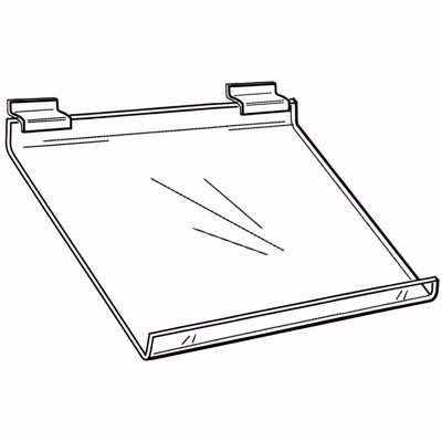 Slatwall Slanted Acrylic Shelf 24z12