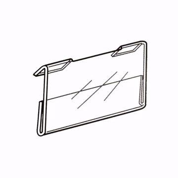 Slatwall Acrylic Sign Holder 5.5 x 3.5