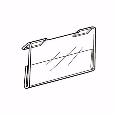 Slatwall Acrylic Sign Holder 5.5 x 3.5