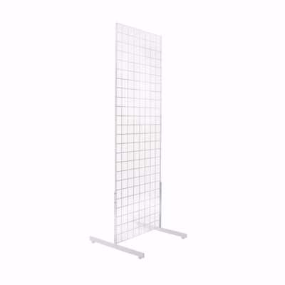 Gridwall Panel with Legs White