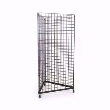 Grid Triangle Tower Black