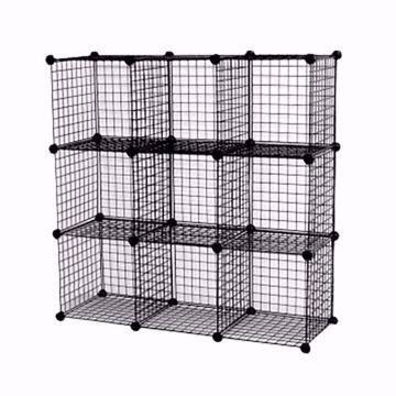 Wire Binning Cubby Unit 3x3 Black