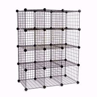Wire Binning Cubby Unit 3x4 Black