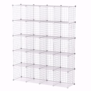 Wire Binning Cubby Unit 4x5 White