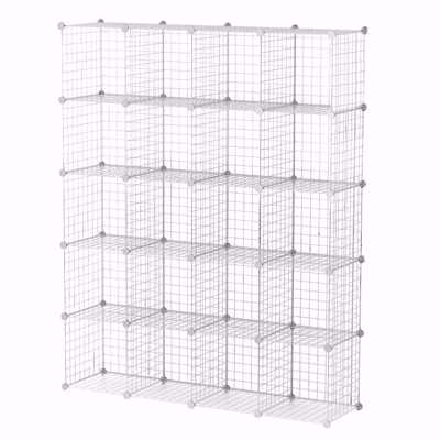 Wire Binning Cubby Unit 4x5 White