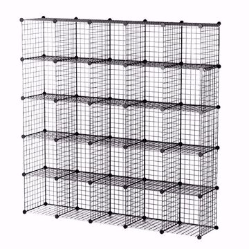 Wire Binning Cubby Unit 5x5 Black