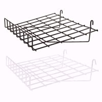 Grid Wire Slanted Shelf with Lip
