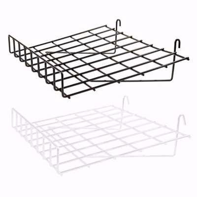 Grid Wire Slanted Shelf with Lip
