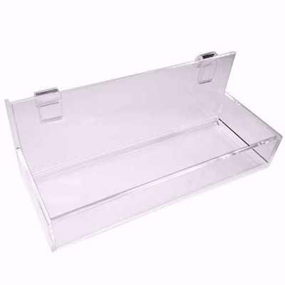 Gridwall Acrylic Straight Shelf with Lip 12x4