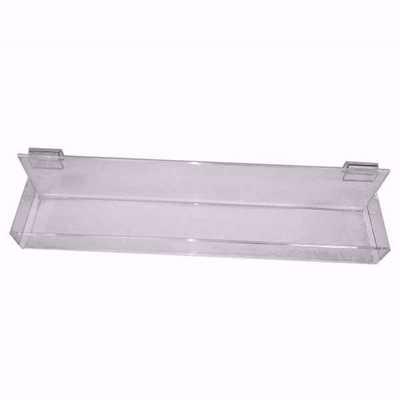 Gridwall Acrylic Straight Shelf with Lip 24X4