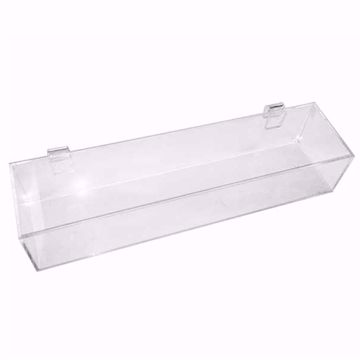 Gridwall Acrylic 1 Compartment Tray