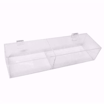 Gridwall Acrylic 2 Compartment Tray