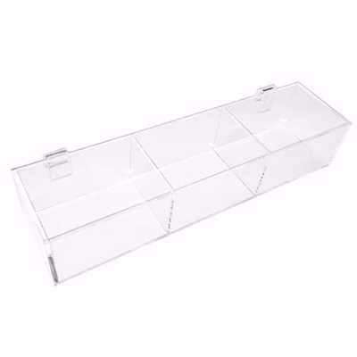 Gridwall Acrylic 3 Compartment Tray