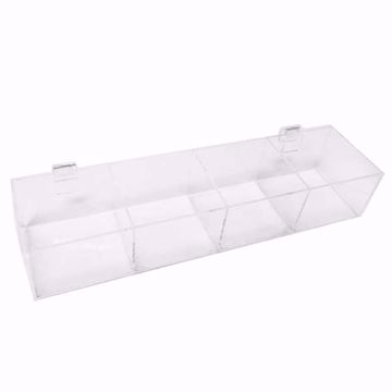 Gridwall Acrylic 4 Compartment Tray