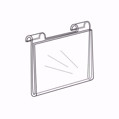 Gridwall Acrylic Sign Holder 5-1/2 x 3-1/2 H