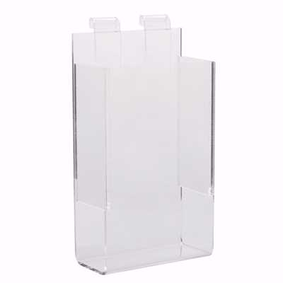 Gridwall Acrylic Single Brochure Holder 4x9