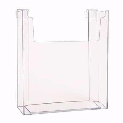 Gridwall Acrylic Single Brochure Holder 8.5x11