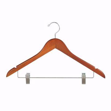 17 inch Wishbone Wood Combo Hangers Teak