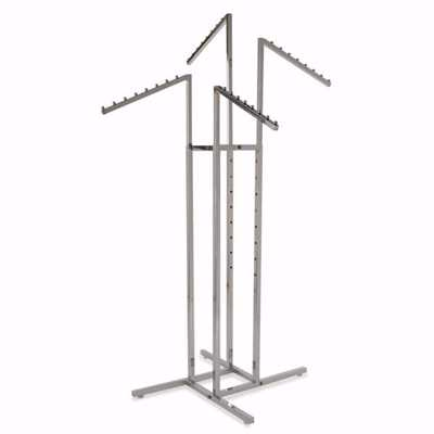 4-Way Slant Arm Floor Rack